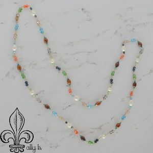 Swarvoski crystal and freshwater pearl necklace